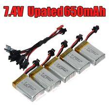 5in2 câble+5x 7.4V 650mAh remplacer batterie pour JJRC H8C H8D DFD F183 RC