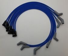 FORD 289-302-351W BLUE 8mm Spiral Core Spark Plug Wires for Coil-In-Cap HEI USA