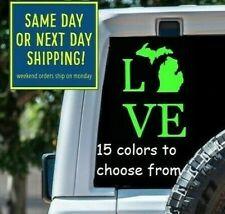 8 Sizes Love Michigan Car Window Decal Sticker Macbook Laptop Tablet Gift
