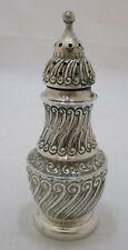Antique Victorian Sterling silver embossed sugar caster, 1891, 70 grams