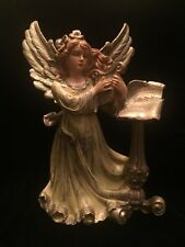 """Depose-Type ANGEL Hand Painted Made in ITALY Playing Harp Music Vintage 9"""" Tall"""