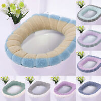 Toilet Seat Closestool Cover Washable Soft Warm Home Bathroom Toilet Mat Cover