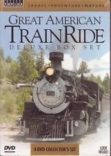 4 DVD BOX SET - GREAT AMERICAN TRAIN RIDE Santa Fe Winter Steam Yukon Toltec NEW