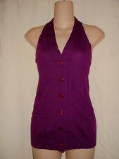 MNG M NWT Magenta Purple Knit Wool Menswear Button Down Sweater Vest Top