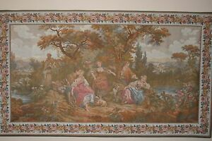 """Tapestry:  Les Amours Pastorales; #2608; 65"""" x 37.5""""; from France"""