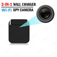 Mini HD 1080P USB SPY Motion Hidden Wall Charger Camera US Adapter Cam TF Card