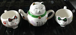oriental Cat tea set Christmas Birthday Gift Unboxed