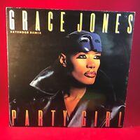 "GRACE JONES Party Girl 1986 UK 3-track 12"" vinyl single EXCELLENT CONDITION"