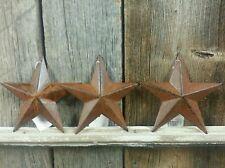 RuStY / Barn Star 5.5 inch /  Set of 3 / FREE SHIPPING
