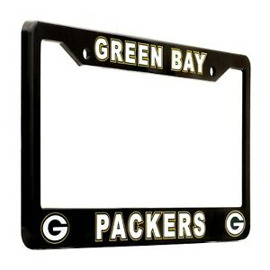 Green Bay Packers Black License Plate Frame Cover - EliteAuto3K