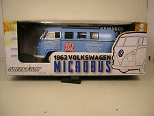 "GREENLIGHT 1:18 SCALE DIECAST METAL BLUE 1962 ""RETRO"" VOLKSWAGEN VW MICROBUS"