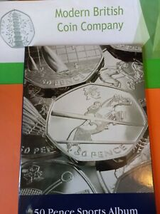 2011 Lighthouse Olympic 50p Album with all 29 coins circulated.