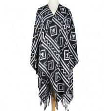 Black and White Fringe Aztec and Heart  ( Cape )