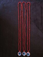 "THREE (3) ""BLOODSHOT EYEBALLS"" HALLOWEEN MARDI GRAS NECKLACES PARTY BEADS TREATS"