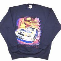 VTG 90s Chase Authentics Mens Large Navy Blue Rusty Wallace Nascar Sweatshirt