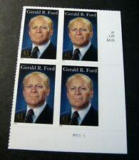 US Plate Blocks Stamp Scott# 4199 Gerald Ford  2007  MNH L260