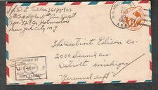 WWII censor cover Sgt D G Tiller 11th Air Depot APO 528 Algiers/531 Tunis