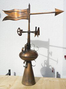 Wetterfahne, Turmspitze handgearbeitet in Kupfer