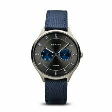 Bering Men's Quartz Stainless Steel Blue Nylon Watch 11539-873