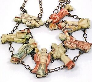 Chinese cow spine necklace Genuine Bone Necklace Antique necklace unisex jewelry 1 of a kind over 100 years old