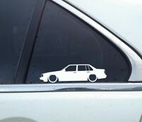 2X Lowered car silhouette stickers - for Volvo 940 turbo Sedan | classic
