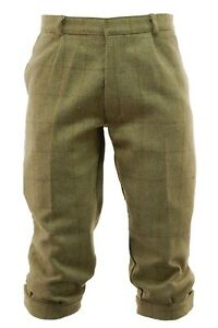 New Mens Tweed Golfing Plus Fours Breeches Trousers 30 32 34 36 38 40 42 46 48