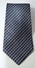 """Preswick & Moore Mens Neck Tie 60"""" Silk Multi Black Silver Blue Diamond USA GUC"""