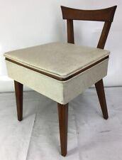 Vintage Singer Sewing Machine Chair w/Storage Mid Century Modern