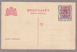 Netherlands 1924 Postal History Postal Stationery Postcard Unused 5c opt 12 1/2c