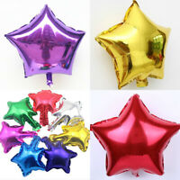 5Pcs Five-Pointed Star Aluminum Foil Helium Balloon Wedding Party Birthday Decor