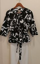 Black and White e.col.o.gie Blazer/Top Buttons Pockets Fully Lined Size PL