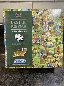 Gibsons Best of British Jigsaw Puzzle in Gift Box  (500 Pieces)