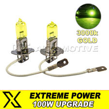 H3 453 Front Fog Lamp Light Bulbs 100W High Power Gold Yellow 3000k Fits Volvo