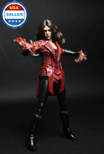 CUSTOM 1/6 scale Scarlet Witch Clothing Set For Elizabeth Olsen 12'' Figure body
