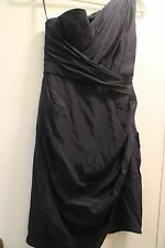 Zimmermann navy one shoulder Drape Dress  size 0