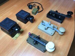 Set of 6pcs.Telegraph Morse Keys Military HAM RADIO. New. Lot of 6pcs.