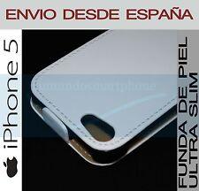 FUNDA DE PIEL PREMIUM BLANCA ULTRA-SLIM APPLE IPHONE 5 5G CUERO EN ESPAÑA