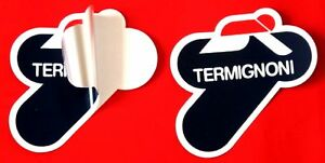 DUCATI  TERMIGNONI  FOIL STICKERS 60MMX60MM GENUINE-IMPORTANT SMALL SIZE  60MM