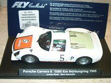 stsu) FLY A1601 88187 PORSCHE CARRERA 6 1000KM NURBURGRING 1966- slot 1:32 scale