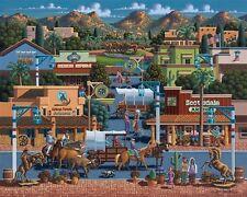 DOWDLE FOLK ART COLLECTORS JIGSAW PUZZLE QUEBEC CITY SAILING 500 PCS #00190