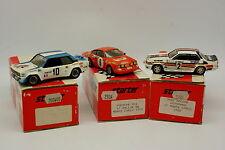 Starter Kit Monté 1/43 - Lot de 3 Fiat 131 Porsche 911 Opel Ascona Monte Carlo