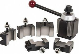 Phase II Quick Change Tool Post Set 5 Holders Wedge Style 251-333 CXA