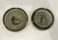 Vintage Fort Myer Virginia Officers Open Mess Set of 2 Ashtrays Army Military