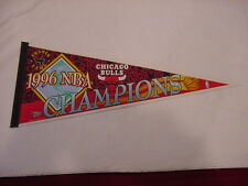 VINTAGE 1996 Chicago Bulls NBA Champions Full Size 29 Inch Pennant, SUPER NICE!!