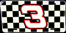 NASCAR license plate #3 Racing team new aluminum auto tag car Made in USA LP-045