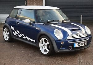MINI COOPER S R53 SUPERCHARGED 2002 MANULAL BLUE PETROL PRIVATE PLATE INCLUDED