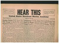 United States Merchant Marine Academy Hear This Newspapers June 26 28 1950