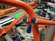CW BMX California Freestyle Handlebar Bar End Chrome Plugs Redline Anlun fork
