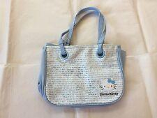 Sanrio Monogram Print Hello Kitty Lunch Bag Blue Cotton