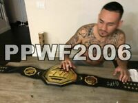 UFC MMA MAX HOLLOWAY HAND SIGNED AUTOGRAPHED REPLICA BELT WITH PROOF AND COA 2